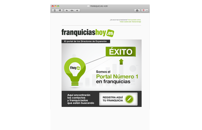 Diseño newsletters Franquicias Hoy