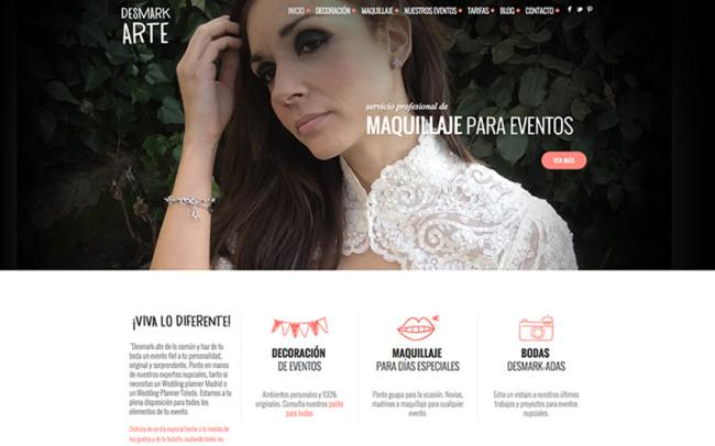 Web empresa decoración Desmark-arte